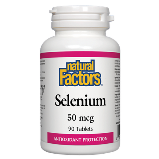 Natural Factors Selenium / Селен 50 мкг 90 таблетки
