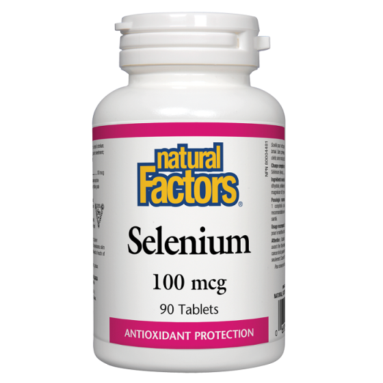 Natural Factors Selenium / Селен 100 мкг 90 таблетки