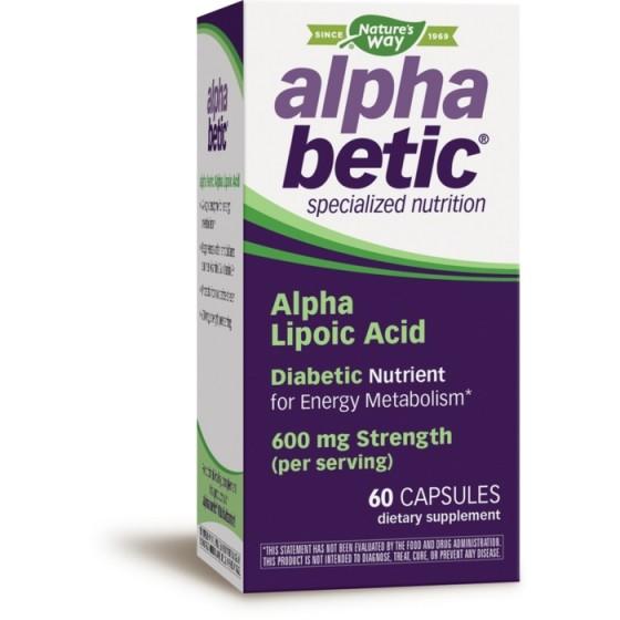 Nature\'s Way Алфабетик алфа-липоева киселина при диабет 60 капсули х 200 мг