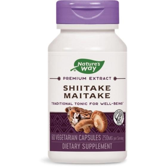 Nature\'s Way  шийтаке и майтаке за енергия и имунитет 60 капсули х 250 мг