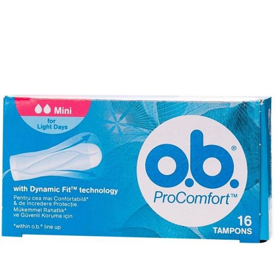 O.B. дамски тампони ProComfort Mini 16 бр. кутия