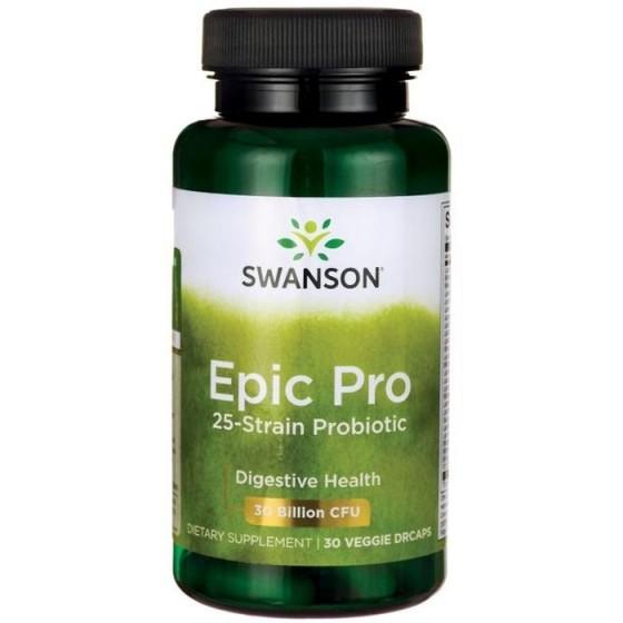 SWANSON Epic Pro / СУОНСЪН Епик-Про 25-щамов пробиотик 30 капсули