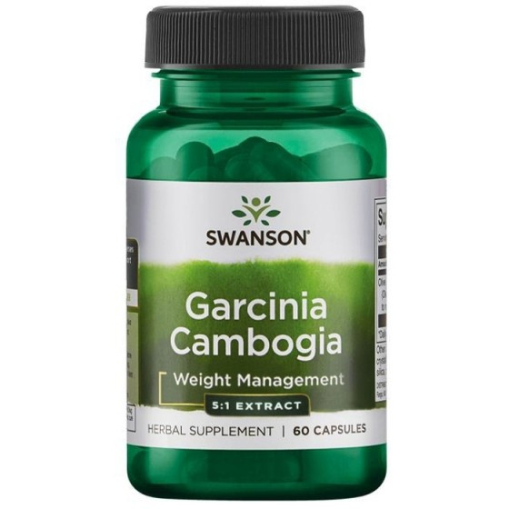 SWANSON Garcinia Cambogia / СУОНСЪН гарциния камбоджия за контрол на теглото 80 мг 60 таблетки