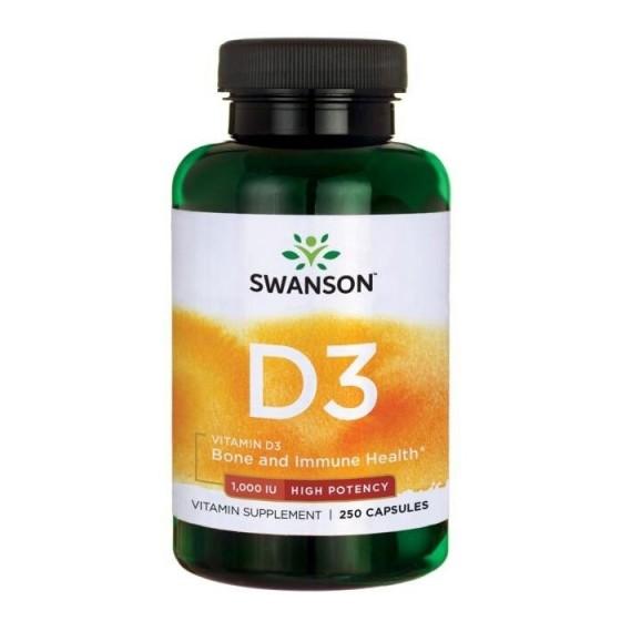 SWANSON / СУОНСЪН витамин D3 1000 IU 250 капсули
