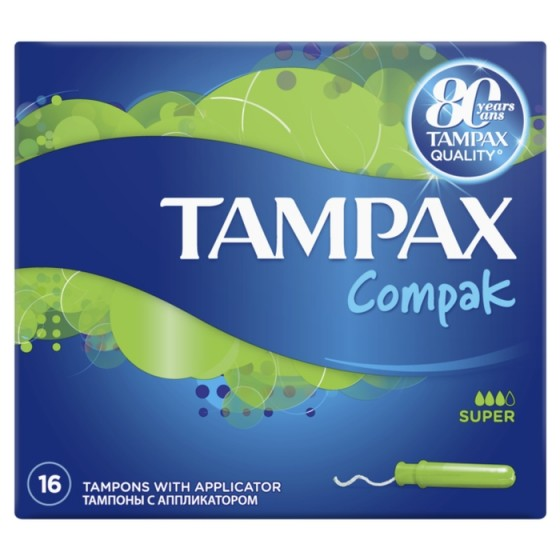 TAMPAX Compak Super 16 тампона