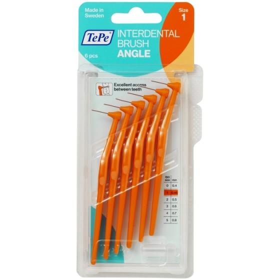 TEPE Angle Orange интердентални четки 0,45 мм, размер 1, 6 бр.