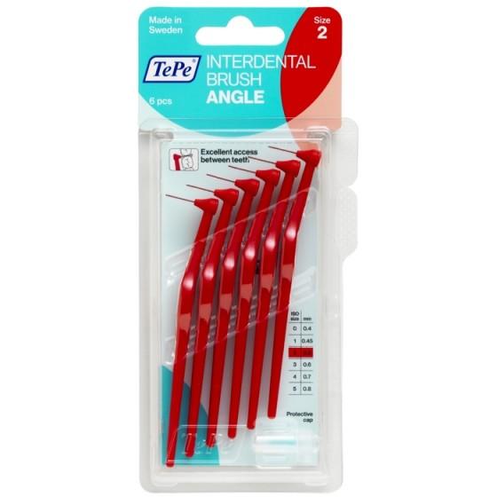 TEPE Angle Red интердентални четки 0,5 мм, размер 2, 6 бр.