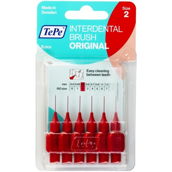 TEPE Original Red интердентални четки 0,5 мм, размер 2, 6 бр.