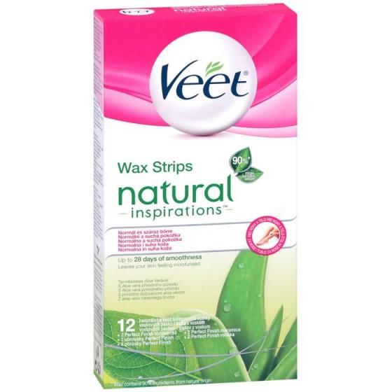 Natural Veet ленти за тяло и крака 12 бр.