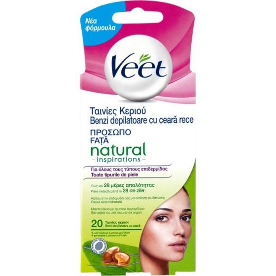 Natural Veet ленти за лице 20 бр.