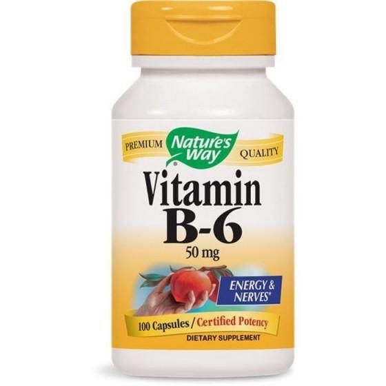 Nature\'s Way Витамин B6 50 mg 100 капсули