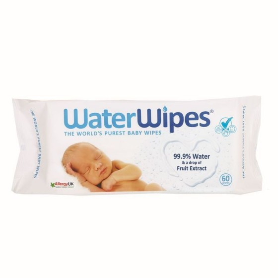 Water Wipes почистващи бебешки кърпички с 99.9% вода, 60 бр.