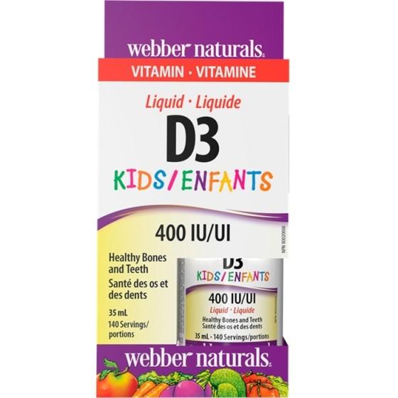 WEBBER NATURALS / УЕБЪР НАТУРАЛС витамин D3 капки за деца 400 IU 35 мл