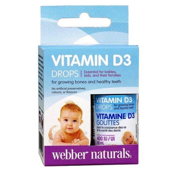 WEBBER NATURALS / УЕБЪР НАТУРАЛС витамин D3 капки за бебе 15 мл