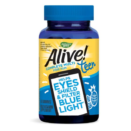 Alive Teen / Алайв Тийн Мултивитамини за Момчета 50 желирани таблетки