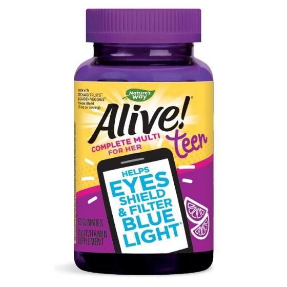 Alive Teen / Алайв Тийн Мултивитамини за Момичета - 50 желирани таблетки