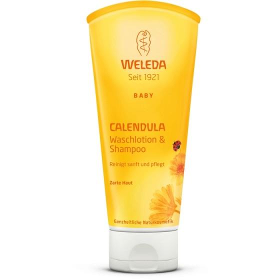WELEDA / ВЕЛЕДА душ гел и шампоан с невен 200 мл