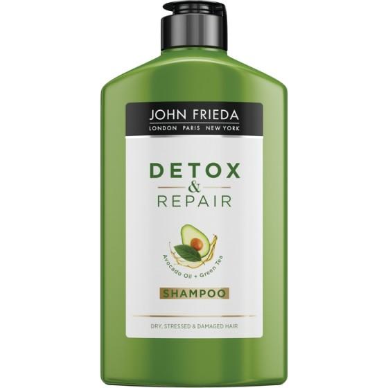 JOHN FRIEDA Detox&Repair / ДЖОН ФРИДА възстановяващ шампоан за суха и увредена коса  250 мл