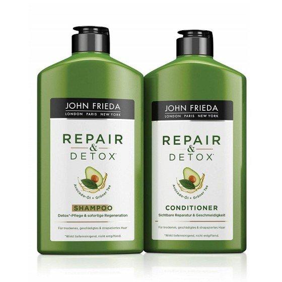JOHN FRIEDA Detox&Repair / ДЖОН ФРИДА възстановяващ комплект за суха и увредена коса