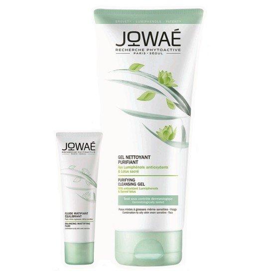 JOWAE Be Pure комплект матиращ флуид 40 мл и почистващо гел-олио 100 мл -75%