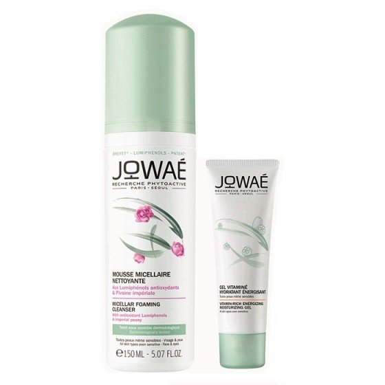 JOWAE Positive Energy комплект хидратиращ гел-крем 40 мл и мицеларна пяна 150 мл -75%