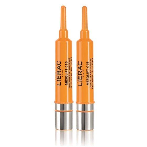 LIERAC Mesolift C15 / ЛИЕРАК Мезолифт концентрат за тонизиране и блясък 2х15 мл