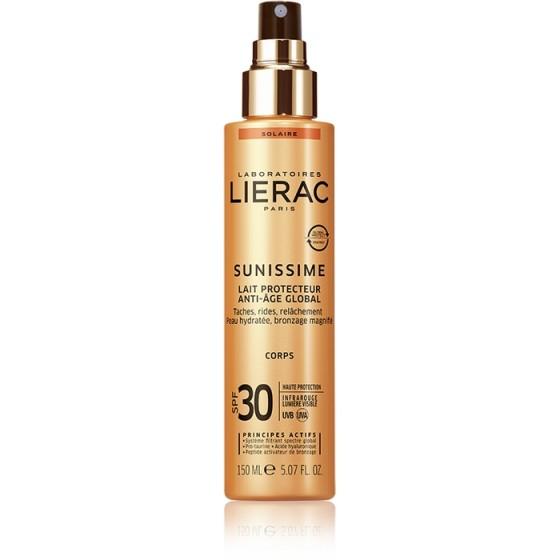 LIERAC Sunissime / ЛИЕРАК Сънисим слънцезащитно мляко за тяло SPF30 150 мл