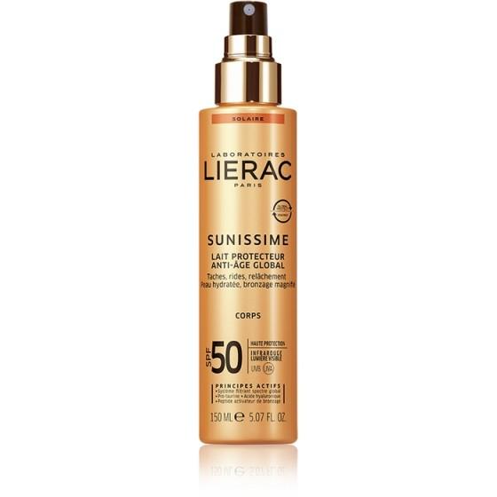 LIERAC Sunissime / ЛИЕРАК Сънисим слънцезащитно мляко за тяло SPF50 150 мл