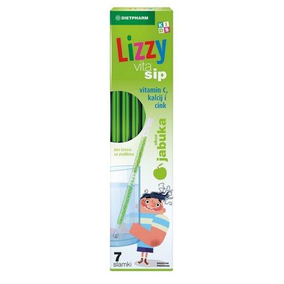 Lizzy VitaSip / Лизи ВитаСип сламки с витамин С, калций и цинк 7 бр.
