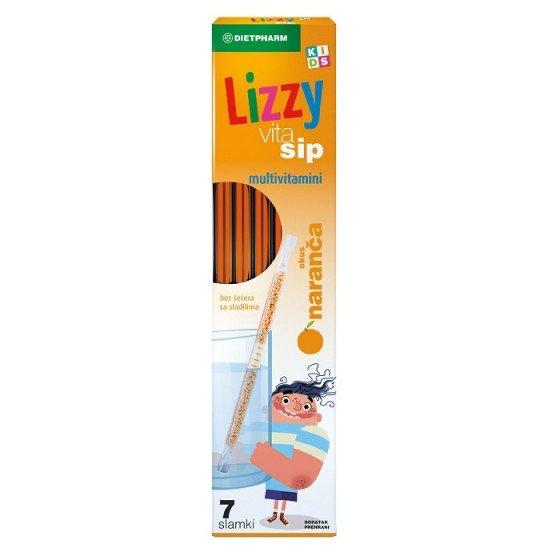 Lizzy VitaSip Multivitamin / Лизи ВитаСип мултивитаминни сламки 7 бр.