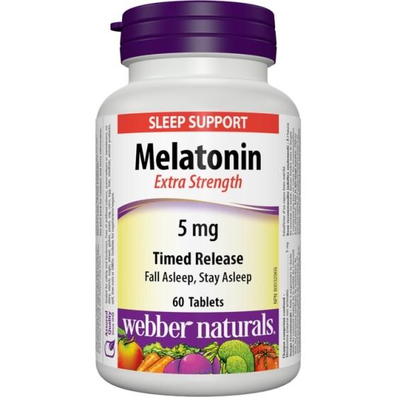 WEBBER NATURALS / УЕБЪР НАТУРАЛС Мелатонин 5 мг с удължено освобождаване за здравословен сън 60 таблетки
