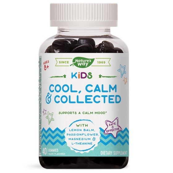 NATURE'S WAY Kids Cool, Calm, Collected при стрес и нервно напрежение 40 желирани таблетки