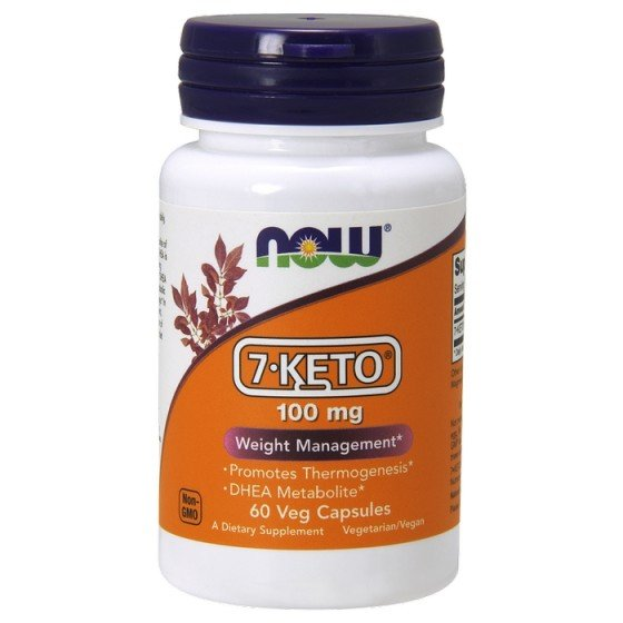 NOW Foods 7-KETO / НАУ Фудс 7-КЕТО за контрол на теглото 60 капсули