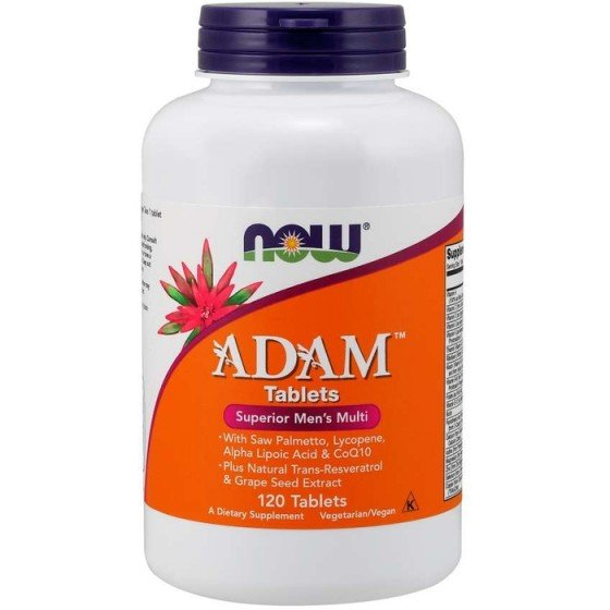 NOW Foods ADAM Men`s Vitamins / НАУ Фудс витамини за мъже 120 таблетки