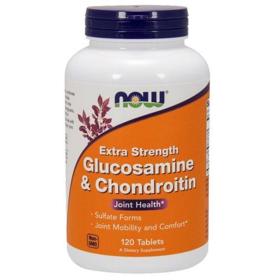 NOW Foods Glucosamine Chondroitin / НАУ Фудс глюкозамин и хондроитин за стави 120 таблетки