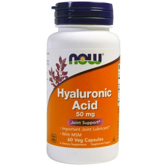 NOW Foods Hyaluronic Acid MSM/ НАУ Фудс хиалуронова киселина с МСМ 60 капсули