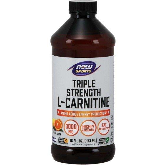 NOW Foods L-Carnitine Liquid / НАУ Фудс течен Л-карнитин 3000 мг 465 мл