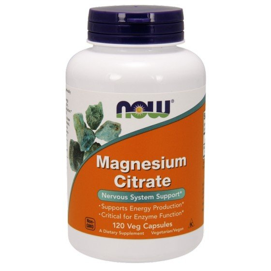 NOW Foods Magnesium Citrate / НАУ Фудс магнезий цитрат 167 мг 120 капсули