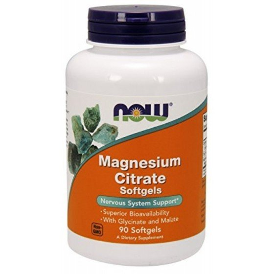 NOW Foods Magnesium Citrate / НАУ Фудс магнезий цитрат 134 мг 90 дражета