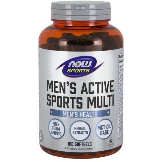 NOW Foods Mens Extreme Sports Multi / НАУ Фудс спортни витамини за мъже 180 дражета