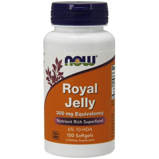 NOW Foods Royal Jelly / НАУ Фудс пчелно млечице 100 дражета