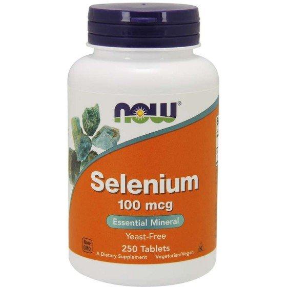 NOW Foods Selenium / НАУ Фудс Селен 100 мкг 250 таблетки