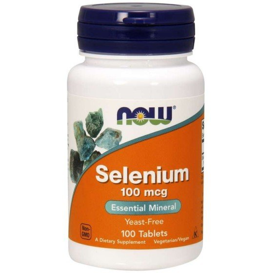 NOW Foods Selenium / НАУ Фудс селен 100 мкг 100 таблетки