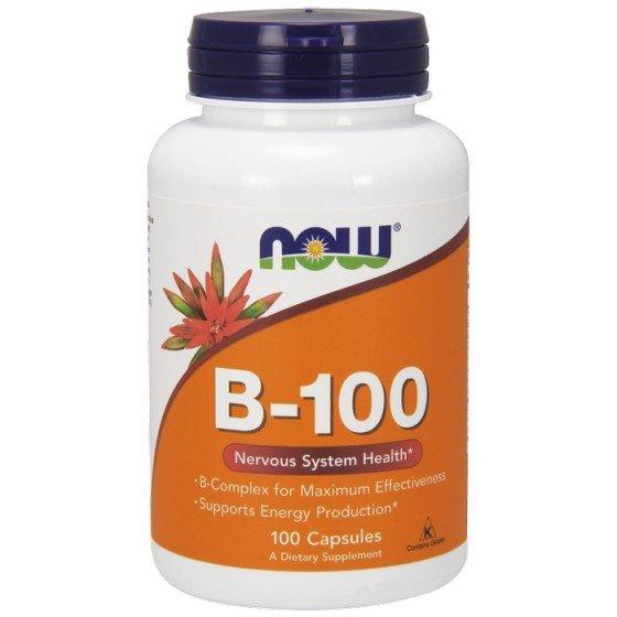 NOW Foods Vitamin B-100 Complex / НАУ Фудс Витамин В-100 комплекс 100 капсули