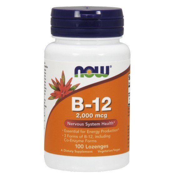 NOW Foods Vitamin B12 / НАУ Фудс витамин В12 2000 мкг 100 дражета