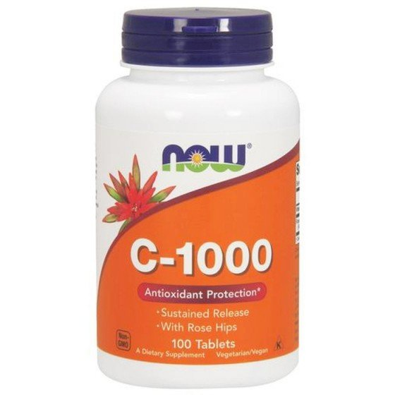NOW Foods Vitamin C-1000 Slow Release / НАУ Фудс витамин С постепенно освобождаване 100 таблетки