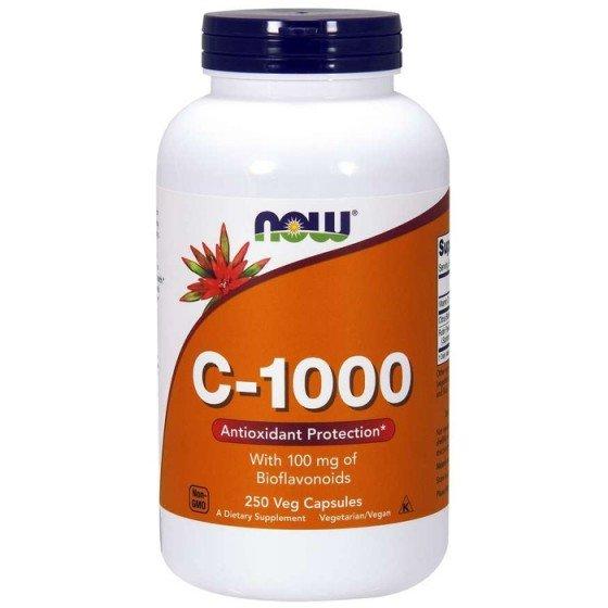 NOW Foods Vitamin C-1000 Slow Release / НАУ Фудс витамин С постепенно освобождаване 250 таблетки