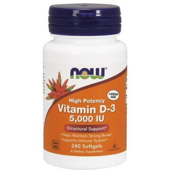 NOW Foods Vitamin D / НАУ Фудс витамин D 5000 IU 240 дражета
