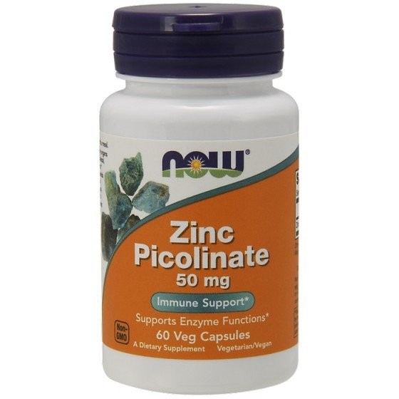 NOW Foods Zinc Picolinate / НАУ Фудс цинк пиколинат 50 мг 60 капсули