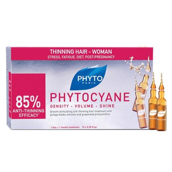 PHYTOcyane / ФИТО Фитоциан Серум против косопад за жени 12 бр ампули